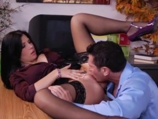 Licking Office Secretary Stockings Teen