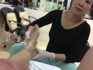 Asian Feet Massage