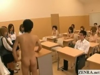 Naked in school Japan students public group blowjob free