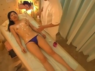 Asian Japanese Massage Oiled Panty Skinny Teen
