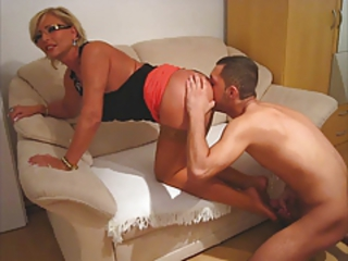 Doggystyle Licking Mature Stockings
