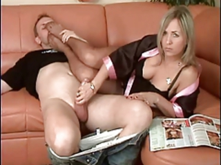 "beautiful milf gives hj nylon feet femdom hottest"" target=""_blank"