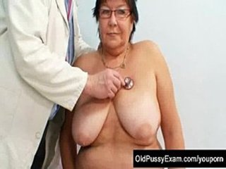 Busty elder woman gyn clinic exam  free