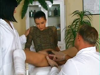 Doctor Hairy Teen Threesome Uniform