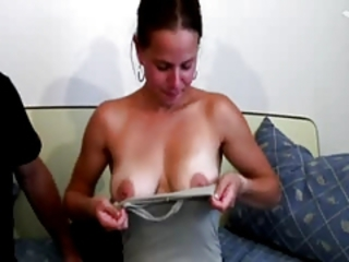 Casting French Amandine with nice tits
