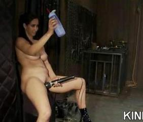 Extreme fantasy of girl bound and double penetrated by strangers