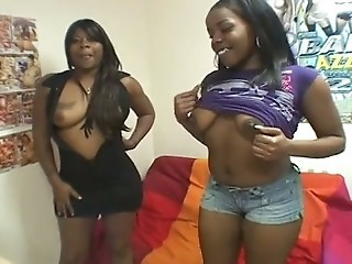 BUSTY EBONY TEENS SHARING A WHITE COCK..usb