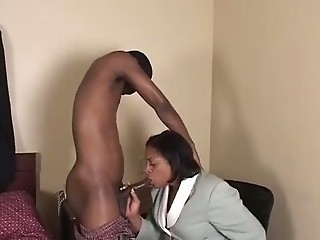 Ebony   yr old BBW Granny gets Fucked Good