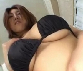 Amazing Asian Big Tits Bikini Japanese  Natural