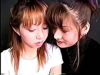 Deep hard kiss japanese girls with long tongue