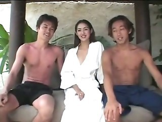 Asian Cute Outdoor Teen Thai Threesome