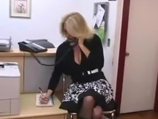 Hot Mature Secretary seducing younger boss