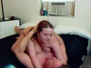 Plump & busty amateur has passionate sex with her bf