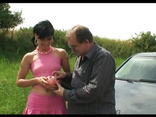 Grandpa giving cock to babe