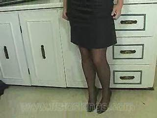 Fiona Stripping Black Skirt