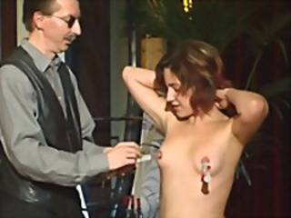 Naughty young chick is in BDSM training and seems far be enjoying it