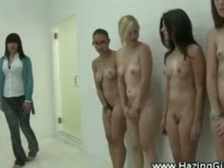 New student lesbian initiation shower