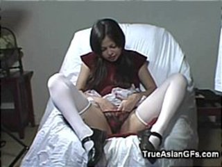 Amateur Asian Fingering and Stroking