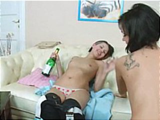 Young lesbian girls playing in HD
