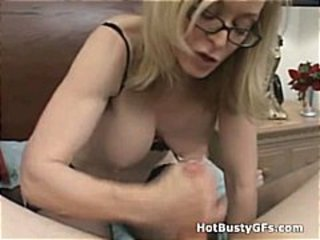 Glasses Handjob  Natural