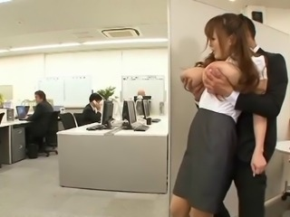Asian Big Tits Japanese Natural Office Public Secretary