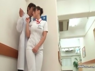 Wet Japanese nurs gets finger fucked free