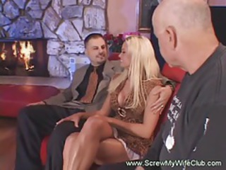 Swinger Blonde Wife gets Screwed hard tubes