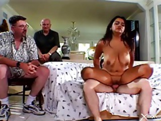 Big Tits Chubby Cuckold Natural Riding  Wife