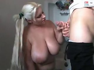 Bathroom  Big Tits Blowjob  Natural