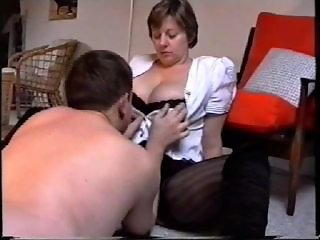 Amateur Big Tits  Natural Stockings Wife
