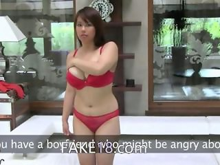 Asian Babe Big Tits Lingerie