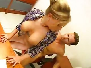 Amazing Big Tits Hardcore  Natural Secretary