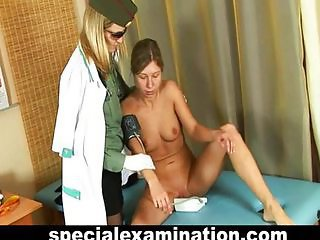 Babe gets gyno check up