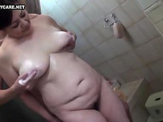 Asian Bathroom Chubby Japanese Mature