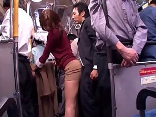 Asian Bus Clothed Japanese  Public