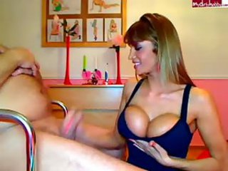 Amazing Big Tits Handjob  Silicone Tits Webcam