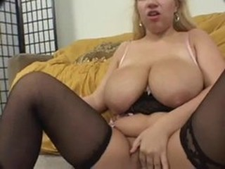 Big Tits Chubby Masturbating Stockings