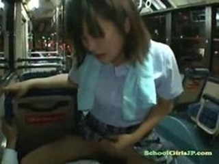 Schoolgirl Riding More than Guy Cock More than Be transferred to Seat At Be transferred to Night Bus