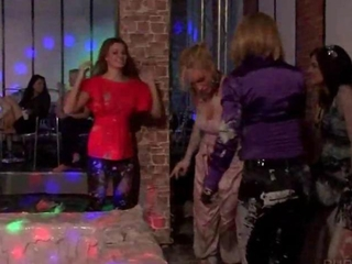 WAM party with sexy muddy lesbians