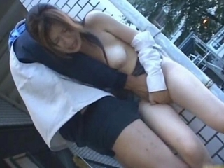 Asian lady has some hot sex in public