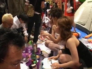 Asian Drunk Japanese Party Public