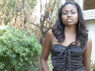 Cute Ebony Outdoor Teen
