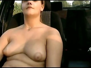 Amateur Car Chubby  Teen