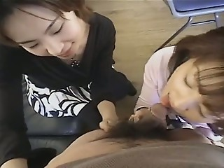 Asian Blowjob Clothed Small cock Teen Threesome