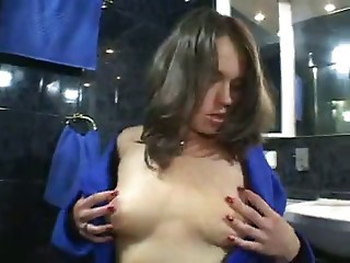Hairy Russian Teen Playing With Her Asshole and Cunt By TROC
