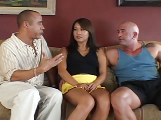 Asian Interracial  Threesome