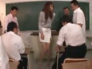 Asian Gangbang Japanese  School Teacher