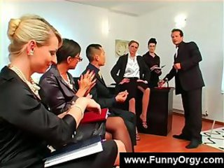 European Groupsex  Office Orgy Secretary