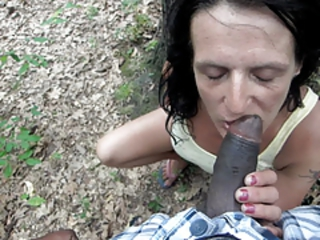 Granny With Dentures Sucks My Dick in The Woods Stream Porn