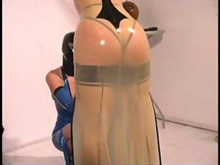 Cute blonde mistress jean in fetish latex bdsm-stores.com
